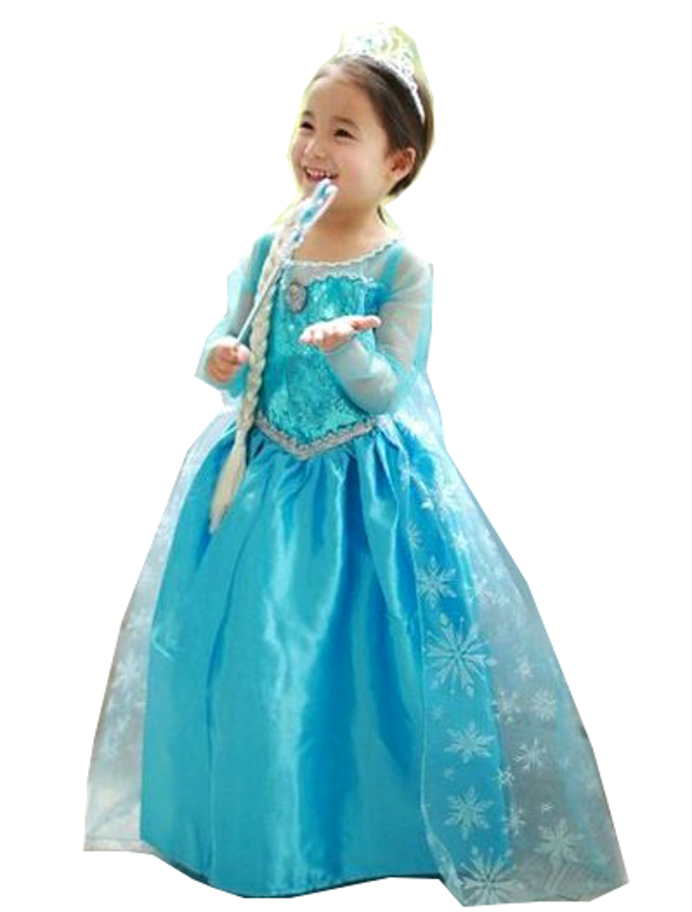princess inspired elsa girls costume dress blue princess costume. Black Bedroom Furniture Sets. Home Design Ideas