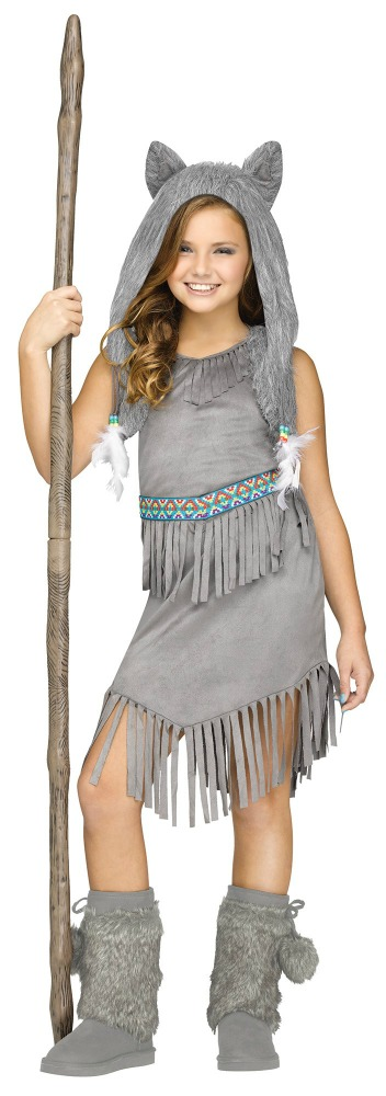 fun world tween girls halloween costume wolf dancer - Halloween Costumes Wolf