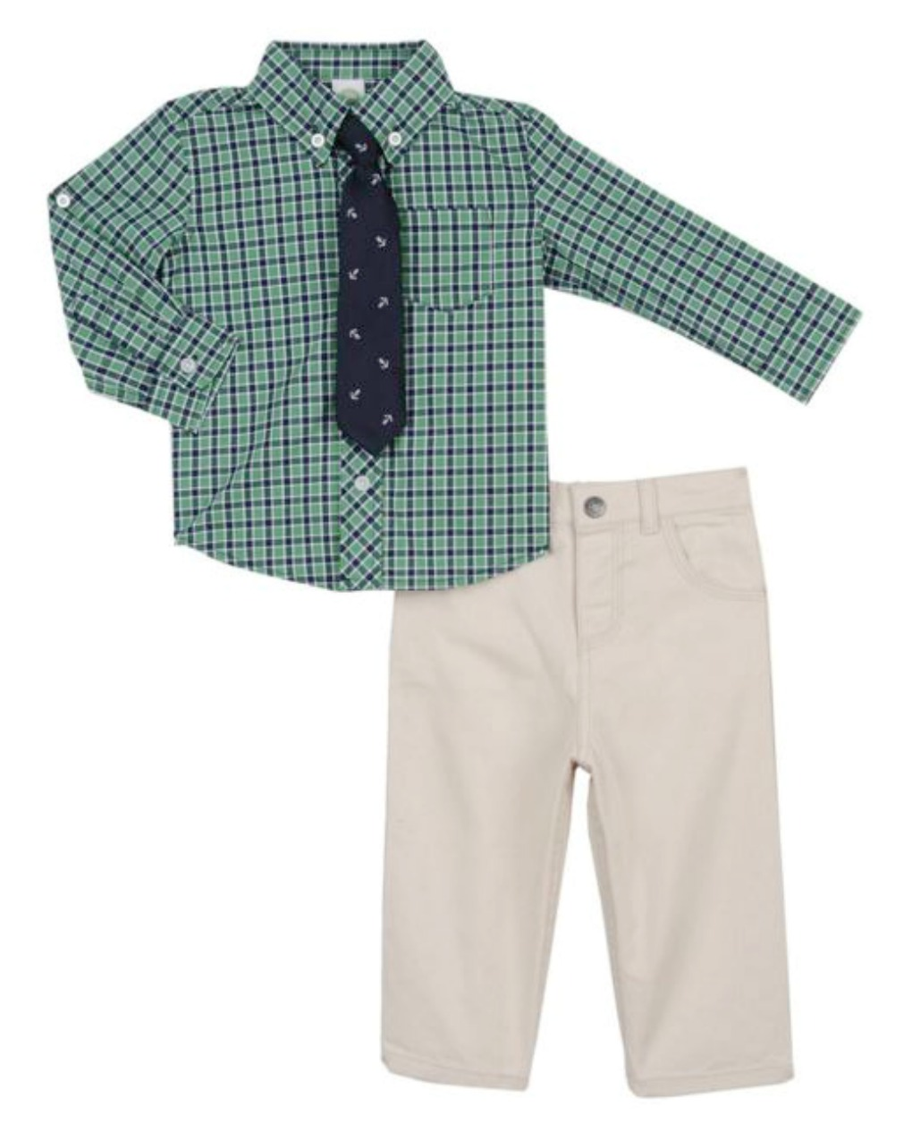 Little Me Baby Boys Holiday Cotton Pants