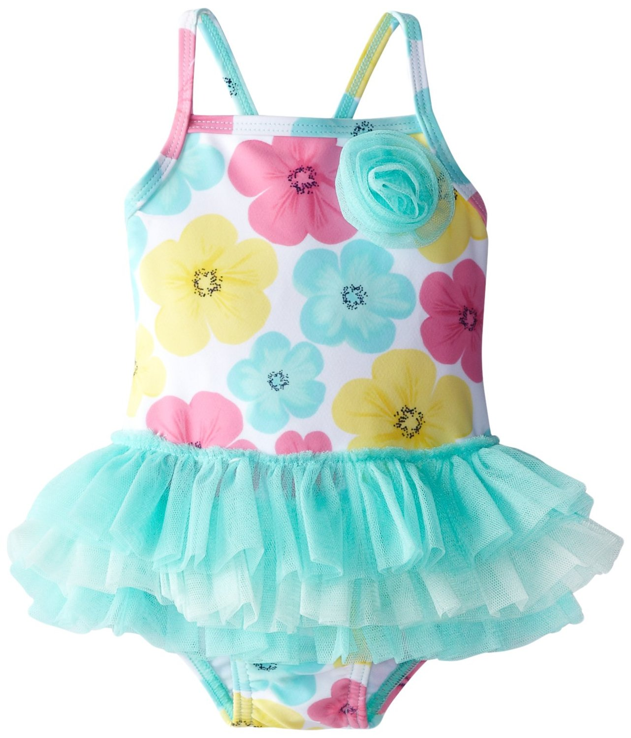 Baby girl swimsuit with tutu-4469