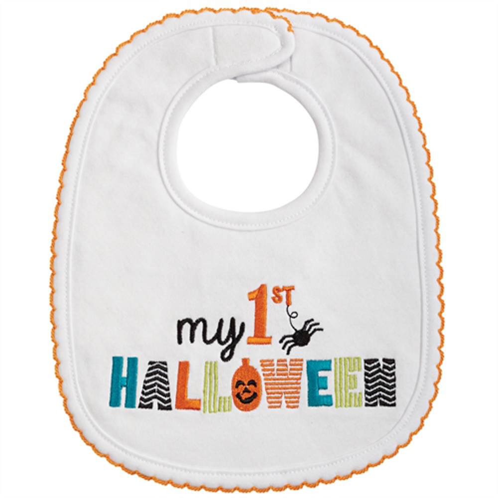 mud pie baby infant my first halloween bib