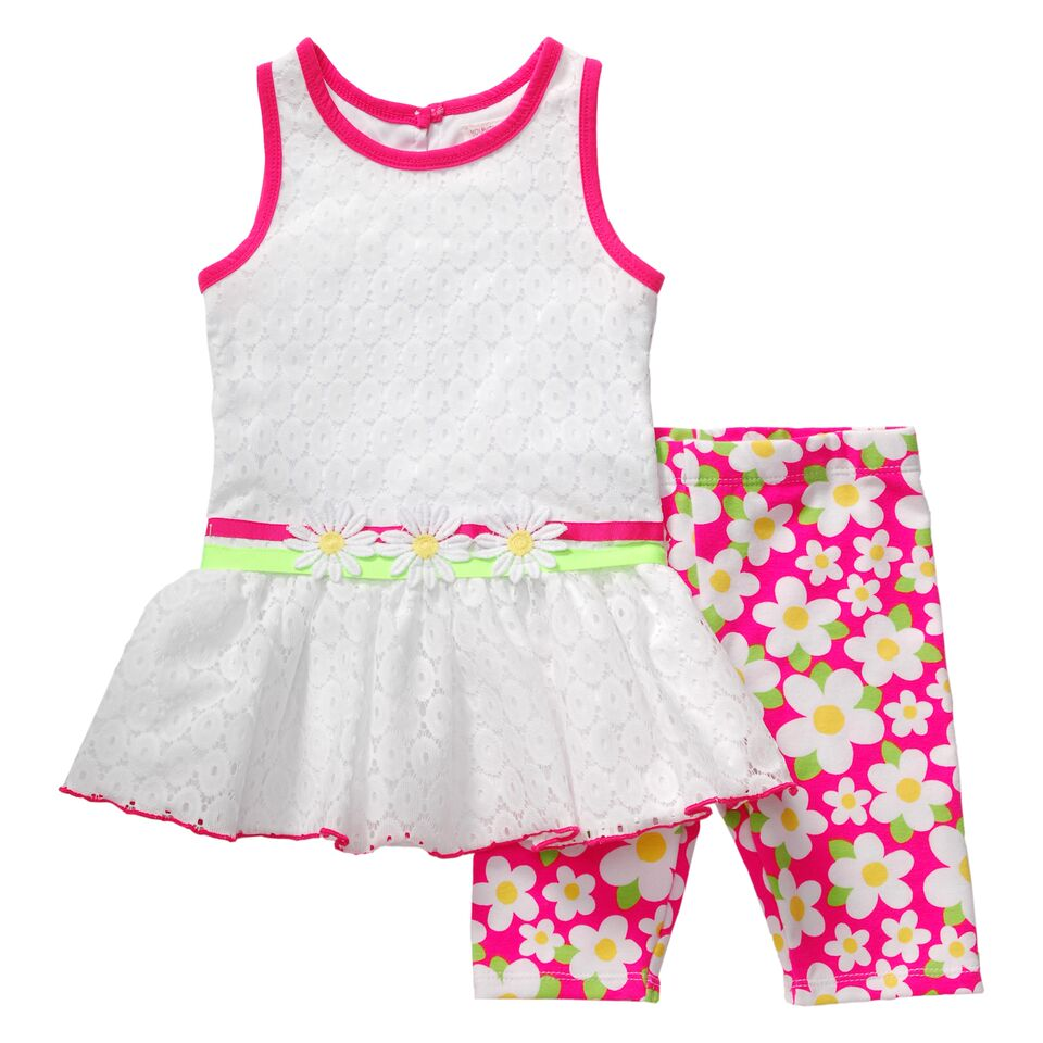 1a4f02840d6 Youngland Little Girls Pink Daisy Capri Set - sold out