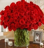 100 Red Roses Available Delivery