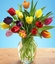 15 tulips (assorted colors)