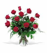 A Dozen Red Rose Arrangement