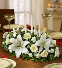 All White Centerpiece Flower