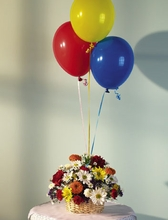 Basket and Balloon Bouquet-Sm