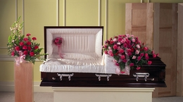 Carnation Casket cover large