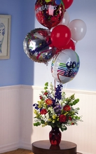 Congratulations Balloons with Flower