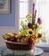 Fruit basket and Flower bouquet