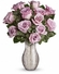 Happy Valentine Day a Dozen Lavender Roses Bouquet