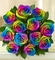 Rainbow Rose Wraped bouquet not available