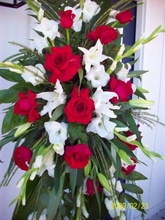 Red and White flower Sympathy