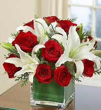 Red rose and lily