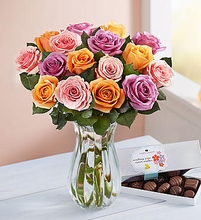 Sorbet Roses with Chocolate