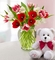 Sweetest Love Tulips, 15 Stems W/Bear