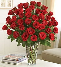 Happy Valentine Day Red Roses bouquet