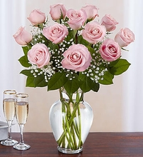 Valentine Long Stem Pink Roses