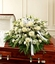 White Mixed Half Casket Cover