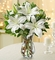 Winter White Lily Bouquet