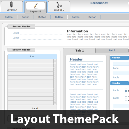 Big Buttons Above Layout ThemePack