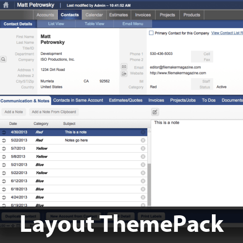 Blue View Layout ThemePack