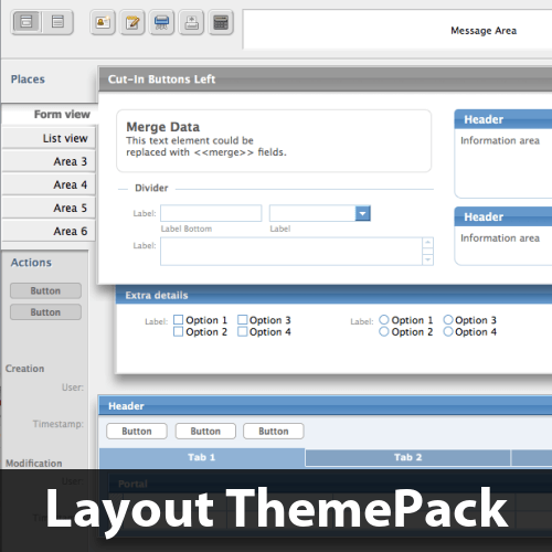 Cut-In Buttons Left Layout ThemePack