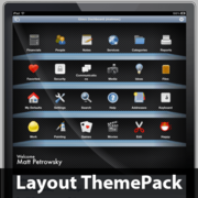 Glass Dashboard Layout ThemePack