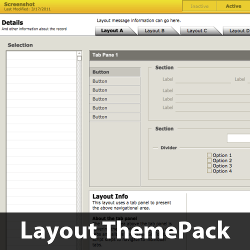 Slanted Tabs Layout ThemePack