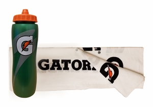 Gatorade Towel-Water Bottle Combo Pack (Free Shipping)