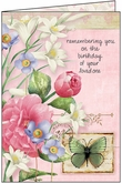 B1102H - Floral Hospice Birthday Cards
