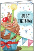 B1108 - Cup Cake Birthday Card