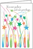 B114B - Star and Candles Birthday Cards