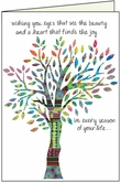 BN104 - Seasonal Tree Birthday Cards