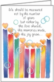 B187 - Candles Birthday Cards