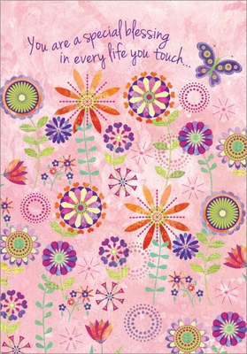 B9176 - Floral Scatter Birthday Cards
