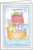 BA2610 - Noah's Ark Congratulations Cards