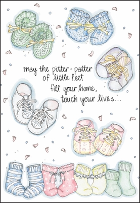 BA2612 - Little Feet Baby Congratulations Cards