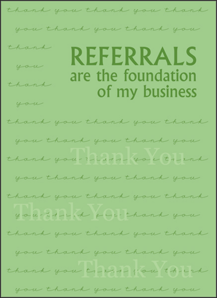 Referral Thank You Note Cards Greeting Cards