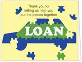 BC08 - Puzzle Loan Thank You Cards