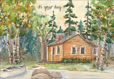 BG104 - Cabin Birthday Cards