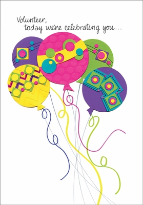 BH161V - Balloons Birthday Cards for Volunteers