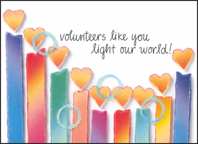 BL173V - Happy Birthday Volunteer Note Cards
