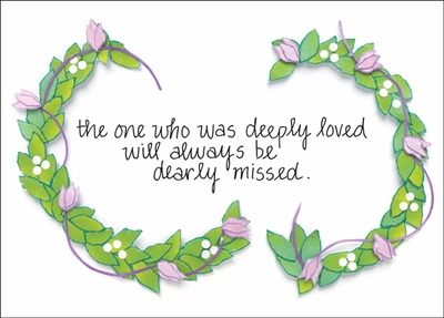 BL234H - Dearly Missed Hospice Note Cards