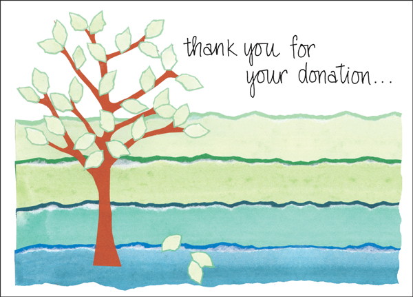 Charity card donation thank you cards order thank you notes bl42 donation thank you note cards altavistaventures Images