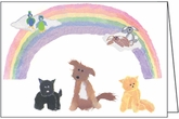 BL85 - Rainbow Blank Animal Note Cards