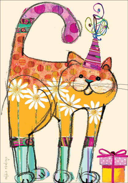 Colorful Happy Birthday Cards For Cats