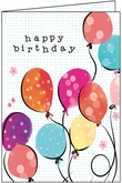 BU142 - Balloons Birthday Cards
