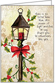 C1708V - Street Lamp Volunteer Christmas Card