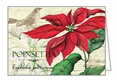 C1710 - Poinsettia Christmas Cards